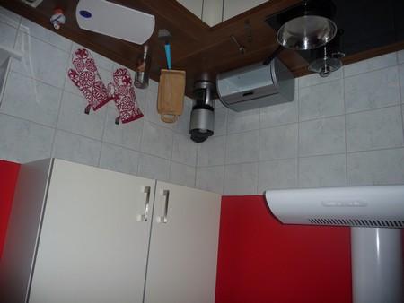 Küchenmöbel auf dem Kopf