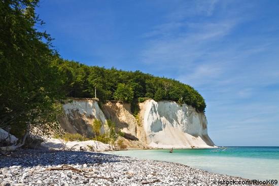 Die berühmte Kreideküste auf Rügen