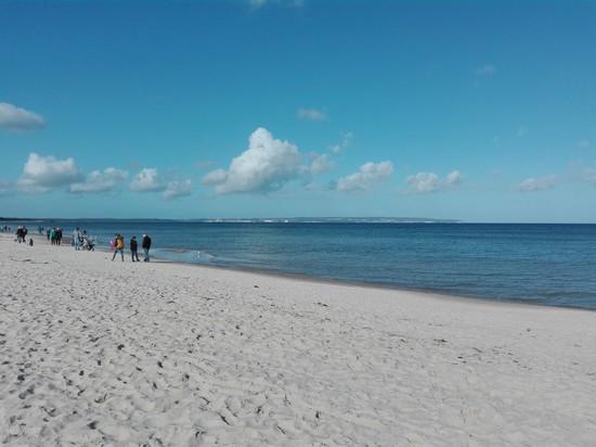 Salzhaltige Luft am Strand von Binz