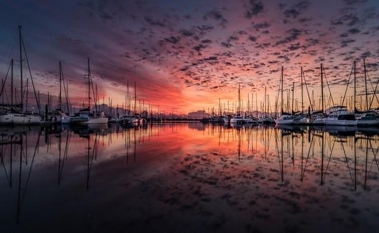 Yacht Hafen auf Rügen